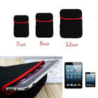 7/9/12'' Inch Soft Neoprene Sleeve Pouch Bag Case For Tablet Laptop PC Notebook