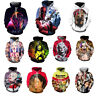 3D Print Bob Marely Clown Jackson Mens Hoodie Sweater Sweatshirt Pullover Tops