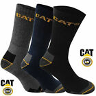 3 6 12 Pairs Mens Work CAT Caterpillar Crew Socks Size 10-13 - 13-16