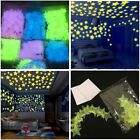 30pcs/100pcs Kid Bedroom Fluorescent Glow In The Dark Stars Wall Stickers