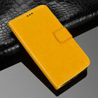 ( Yellow) New PU Leather Flip Case Wallet Stand Cover For Various mobile phones