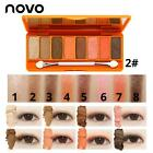 Novo 8 Colors Cartoon Shimmer Matte Eyeshadow Palette Beauty Makeup Cosmetic