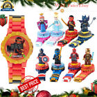Super Hero Block Digital Watch Kids Wrist Watch Special Gift for Christmas Kids