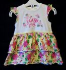 Baby Girls Guess Yellow Pink Tropical Floral Cap Sleeve Dress Age 9-12 Months