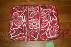 NWT Vera Bradley LAPTOP SLEEVE computer case padded  11484 $38RARE HTF pink red