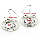 Kansas City Chiefs Football Logo Pendant Earrings With 925 Earring Wires $7.99 USD on eBay