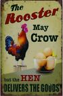 Happy Chicken Lay More Eggs Retro Metal Tin Signs Plate Farm Art Wall Decor