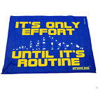 Gym Sweat Microfiber Sports Towel Jogging Funny Its Only Effort Until Its Routin