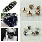 Внешний вид - 100Pcs Silver Punk Spike Rivet Screw Bead DIY Metal Studs for Bags Clothes Belts