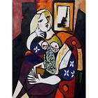 Woman with Book Pablo Picasso HD Canvas Art Print Painting Decor Multi Sizes#151