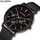 Fashion Mens Luxury Watch Slim Mesh Steel Waterproof Quartz ANlog Wrist Watches image