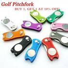 Steel Pitch Groove Cleaner Divot Repair Tool Golf Pitchfork Putting Green Fork