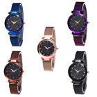 Chic Starry Sky Rhinestone Magnetic Band Dial Quartz Women Wrist Watch Best image