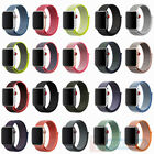 Replacement Nylon Sport Loop iWatch Band Strap For Apple Watch 4 38/42mm 40/44mm