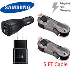 OEM Samsung Galaxy J7 J8 J3 2018  Fast Charging Car & Wall Charger + 5Ft Cable