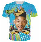 New Womens/Mens 3D Print Casual T-Shirt  Fresh Prince Short Sleeve Tops tee