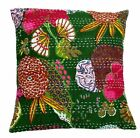 """16"""" INDIAN Ethnic Vintage Kantha Decor CUSHION PILLOW CASE COVERS THROW"""