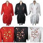 Traditional Chinese Women's Floral Robe Top Embroidered Plum Blossom Flowers New