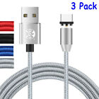 3 Pack Fast Magnetic Charger Adapter Micro USB Charging Cable For iPhone Lot US