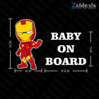 Baby On Board Superhero Sticker Sign Car Decoration Decal Kids Adhesive Gift