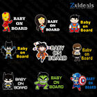 Внешний вид - Baby On Board Superhero Sticker Sign Car Decoration Decal Kids Adhesive Gift