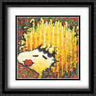Bird Lips in a Blonde Bombshell Wig 2x Matted 28x40 Framed Art by Tom Everhart