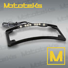 CURVED RADIUS LED LICENSE PLATE FRAME COVER FOR HARLEY MOTORCYCLE CHROME BLACK