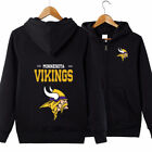 2019 Minnesota Vikings Football Team  Fans Hoodie zip up Coat Jacket Sweatshirt on eBay