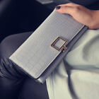 2018 Hot Alligator Womens Wallets Hasp PU Leather Crocodile Long Wallet Female image
