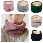 Warm Scarf Winter Trendy Infinity Loop Wool Circle Neck Fur Knit Tube For Women
