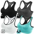 FITTIN Racerback Sports Bras  Padded Seamless High Impact Support for Yoga Gym