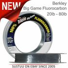 Berkley Big Game Clear Fluorocarbon Leader Line│Sea Carp│20 lb to 80 lb│All Size