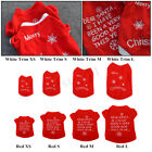 Pet Dog Cat Puppy Jacket Coat Clothes Lovable Winter Warmer Xmas Theme Apparel