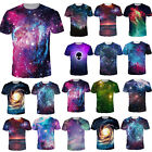 Galaxy Space Nebula 3D Print T shirt Women Men Short Sleeve Tee Tops Blouse US