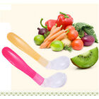 1pcs Baby Feeding Spoons Soft Silicone First Stage Infant Kids Training Spoons