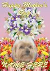 Yorkshire Terrier Dog Mother's Day Personalised Greeting Card Mum Nan Bump FV225