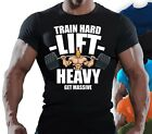 Mens Muscle Fit T Shirt Bodybuilding Crossfit Gym Top - UK Seller