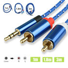 3.5mm to 2RCA Male Audio Auxiliary Aux Stereo Y Splitter Cable Cord 3ft/6ft/10ft