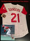 NEW Authentic Deion Sanders Cincinnati Reds Mens 1997 Style Retro Jersey Braves