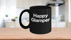 Happy Glamper Mug Black Coffee Cup Funny Gift for Camper RV Yurt Road Warrior Su