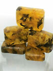 Beer , Honey & Sea Buckthorn Oil Natural Amber Soap Rocks, Handmade in USA