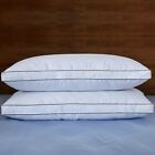 """Puredown 2 Packs Natural Goose Down Feather Gusseted Bed Pillows for Sleeping 2"""""""