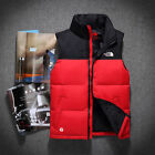 Men's Duck Down Sleeveless Jackets Vest coat body Warmer Red