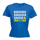 Funny Novelty Tops T-Shirt Womens tee TShirt - Same Is Lame Drummer