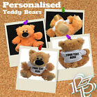 Personalised Soft Brown Teddy Bears custom text photo baby newborn teddies gift