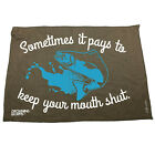 Fishing Funny Microfiber Hand Towel - Sometimes It Pays To Keep Your Mouth Shut