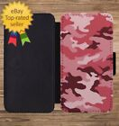 Army Camo Pink Camouflage Print Wallet Phone Case for iPhone 5 6 7 8 X XS Max XR