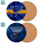 St. Louis Blues Wood Coaster Coffee Cup Mat Mug Pad Table Decor $3.99 USD on eBay
