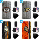 Anaheim Ducks Leather Case For iPhone X Xs Max Xr 7 8 Plus Galaxy S9 S8 $7.99 USD on eBay