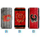 Calgary Flames Leather Case For iPhone X Xs Max Xr 7 8 Plus Galaxy S9 S8 $8.99 USD on eBay